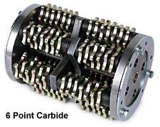 "MK Diamond 8"" Scarifier Drum Carbide 5 Point 84 Cutters"