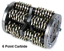 "MK Diamond 8"" Scarifier Drum Carbide 6 Point 78 Cutters"