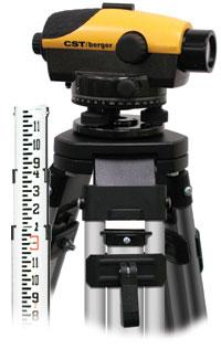 CST/berger 55-PLVP26G PAL 26X Kit w/ Tripod & Rods, Gons