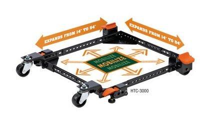 HTC 3000 Universal Mobile Base 700 lb. Cap. w/Foot & Floor Locks