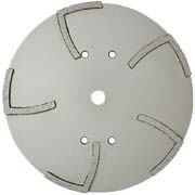 MK-1010H 10 Segmented Concrete Grinding Wheel Green Concrete