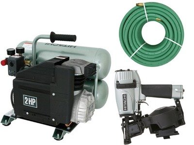 Hitachi Roofing Combo Nailer/Compressor/Hose/Fittings
