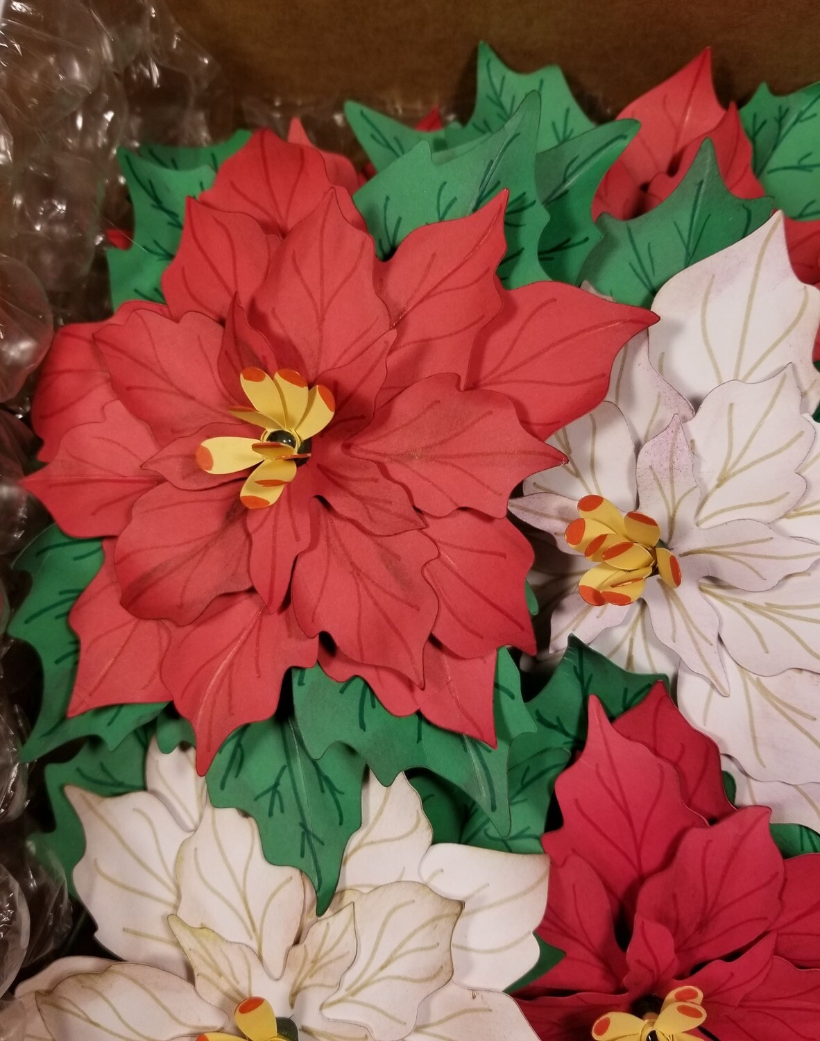 Hand-made Paper Poinsettia