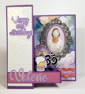 CUSTOM 80th Birthday with foldout for messages