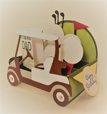 Golf Cart Box Card BROWN