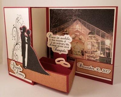 CUSTOM Wedding card for Glenda & Larry