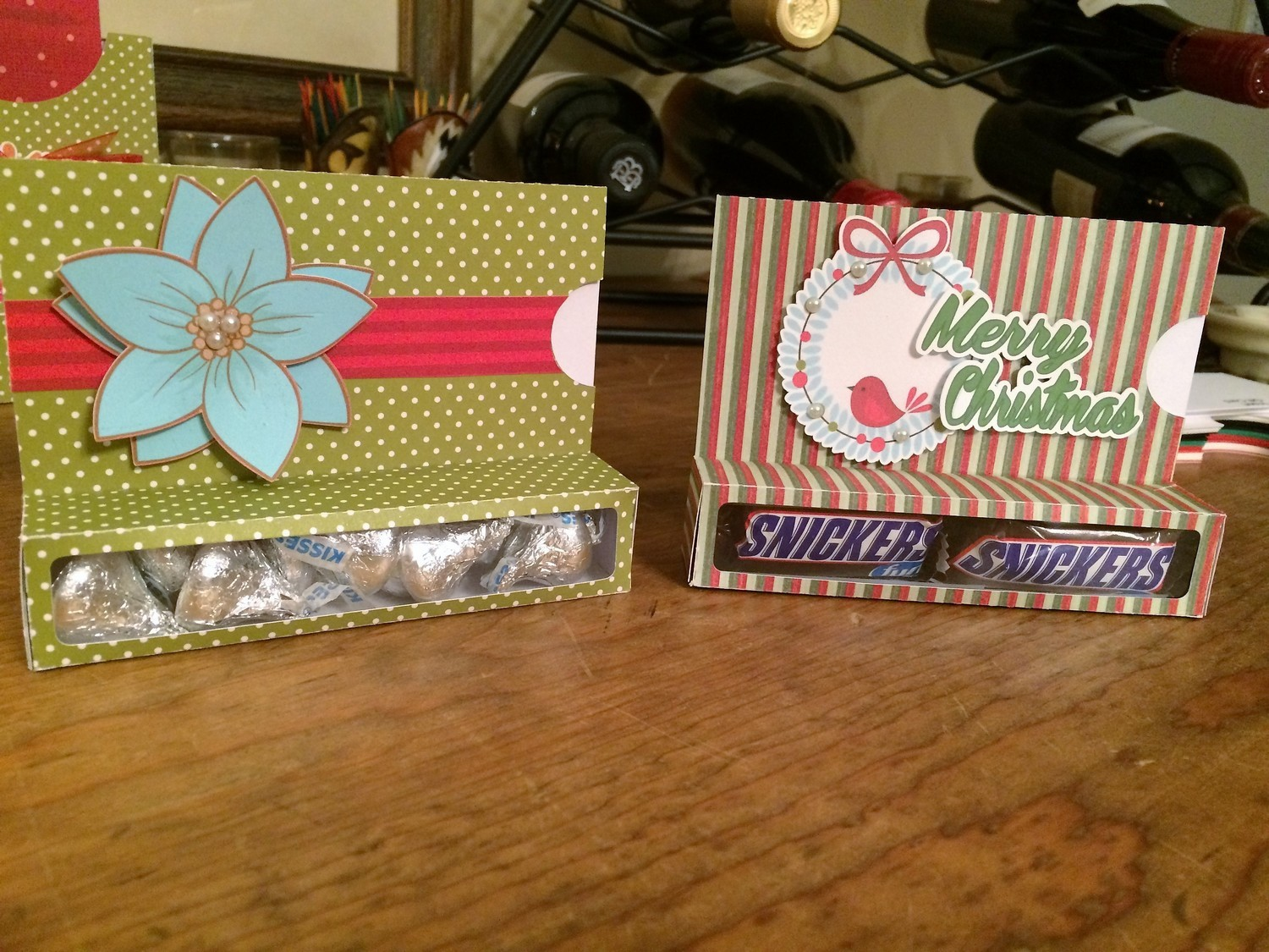 Gift card candy boxes