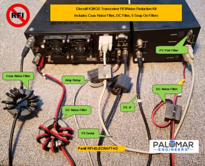 Elecraft K3/K3S Transceiver RFI Kit - 7 Noise Reduction Filters