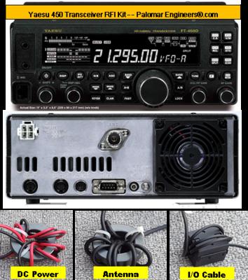 Yaesu 450D Transceiver RFI Kit - 8 RFI/Noise Reduction Filters