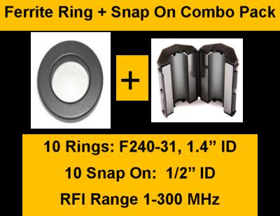"""RFI Range 1-300 MHz Bulk 15 Pack ID=1//2/"""" FSB31-1//2"""