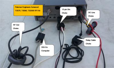 HF Transceiver RFI/Noise Reduction Kit, RFI Range 1-300 MHz, 5 Filters
