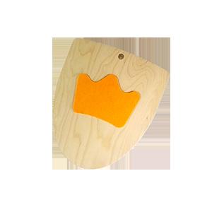 Щит гнутый Корона