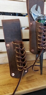 Ironworkers,crescent wrench/Laced bullpin combo  tool holder