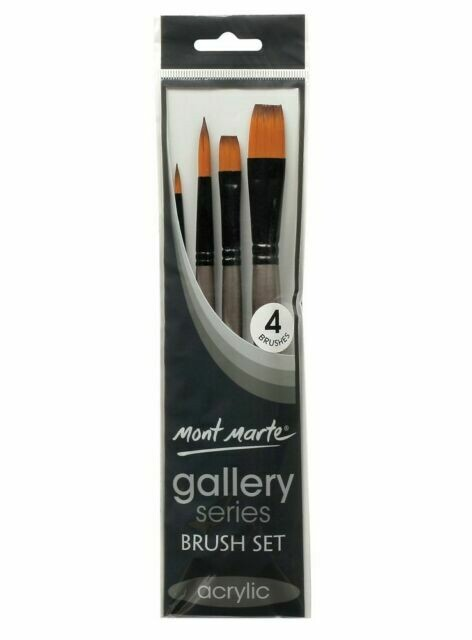 Paint brushes- 4 pk Mont Marte gallery series