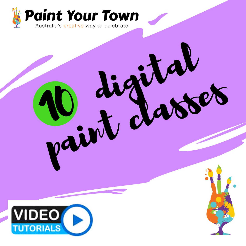 10 virtual paint classes!