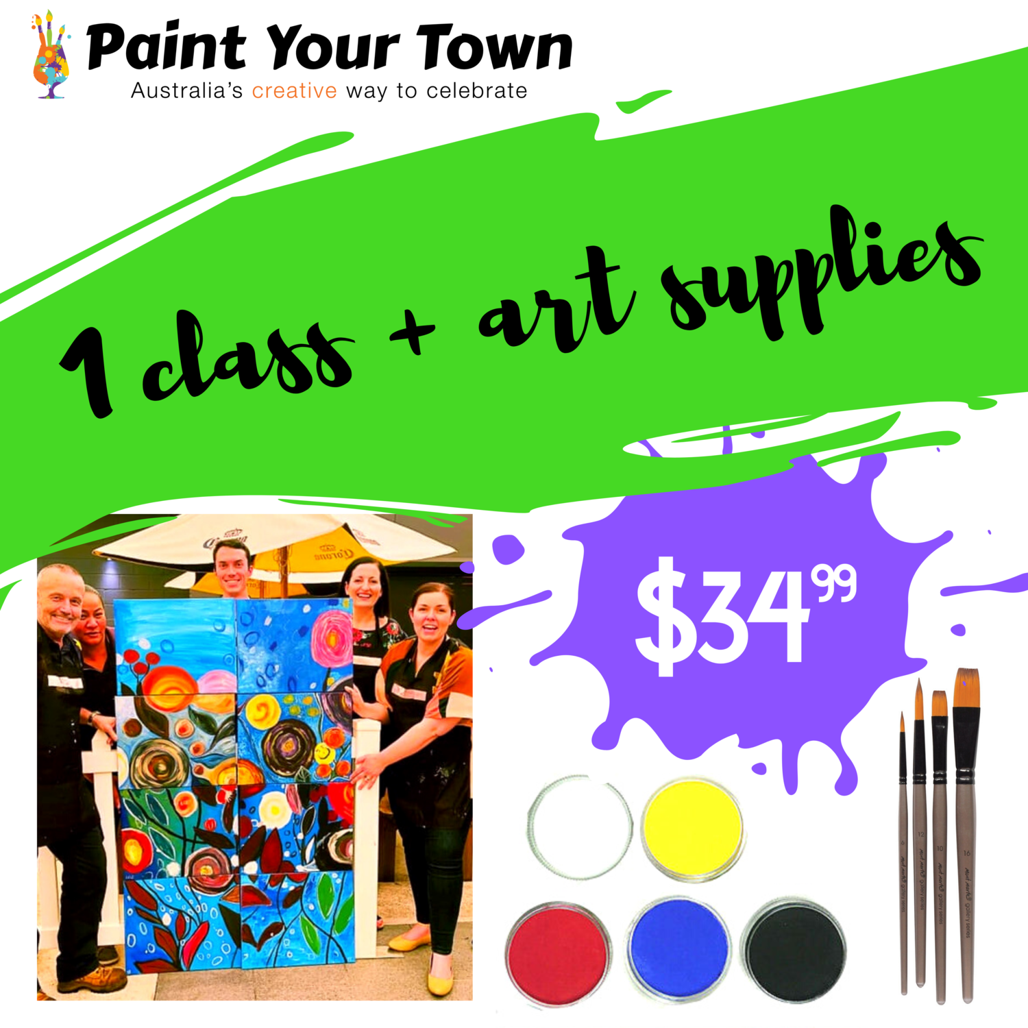 1 virtual paint pARTy + supplies! (for private virtual party only)