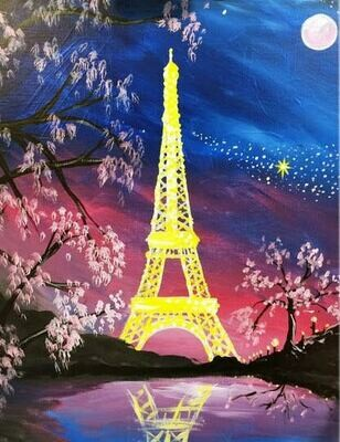 Eiffel Tower - Virtual Class (no supplies)