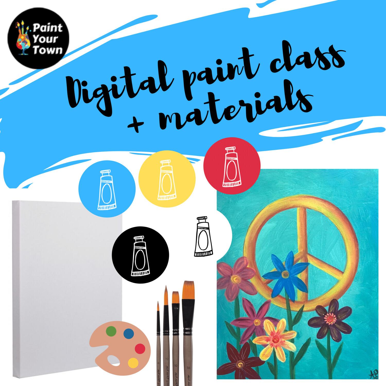 Peace Flowers - Virtual class  + supplies