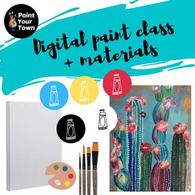 Cactus - Virtual class  + supplies