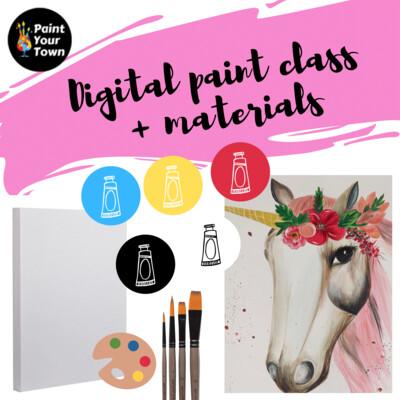 Unicorn - Virtual class  + supplies