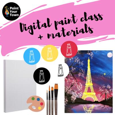 Eiffel Tower - Virtual class  + written instructions + supplies