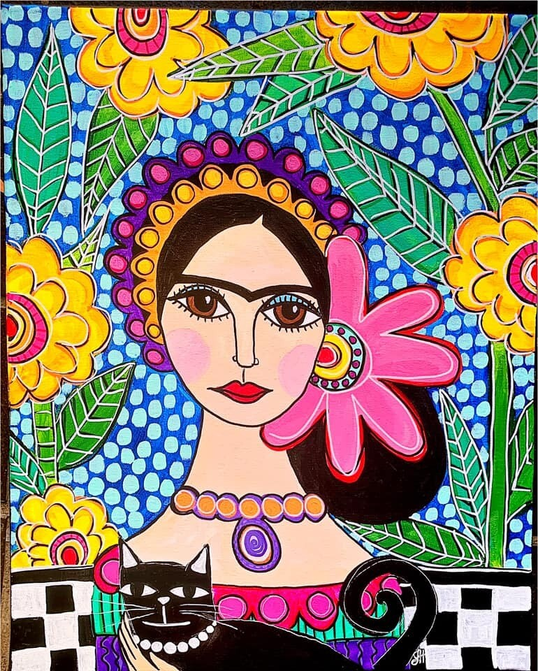 Patterned Frida - Virtual Class (no supplies)