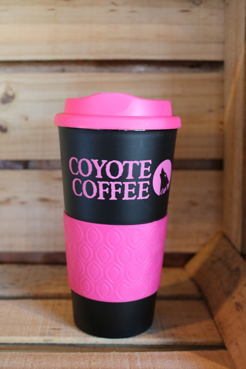 Coyote Coffee Black and Pink Tumbler