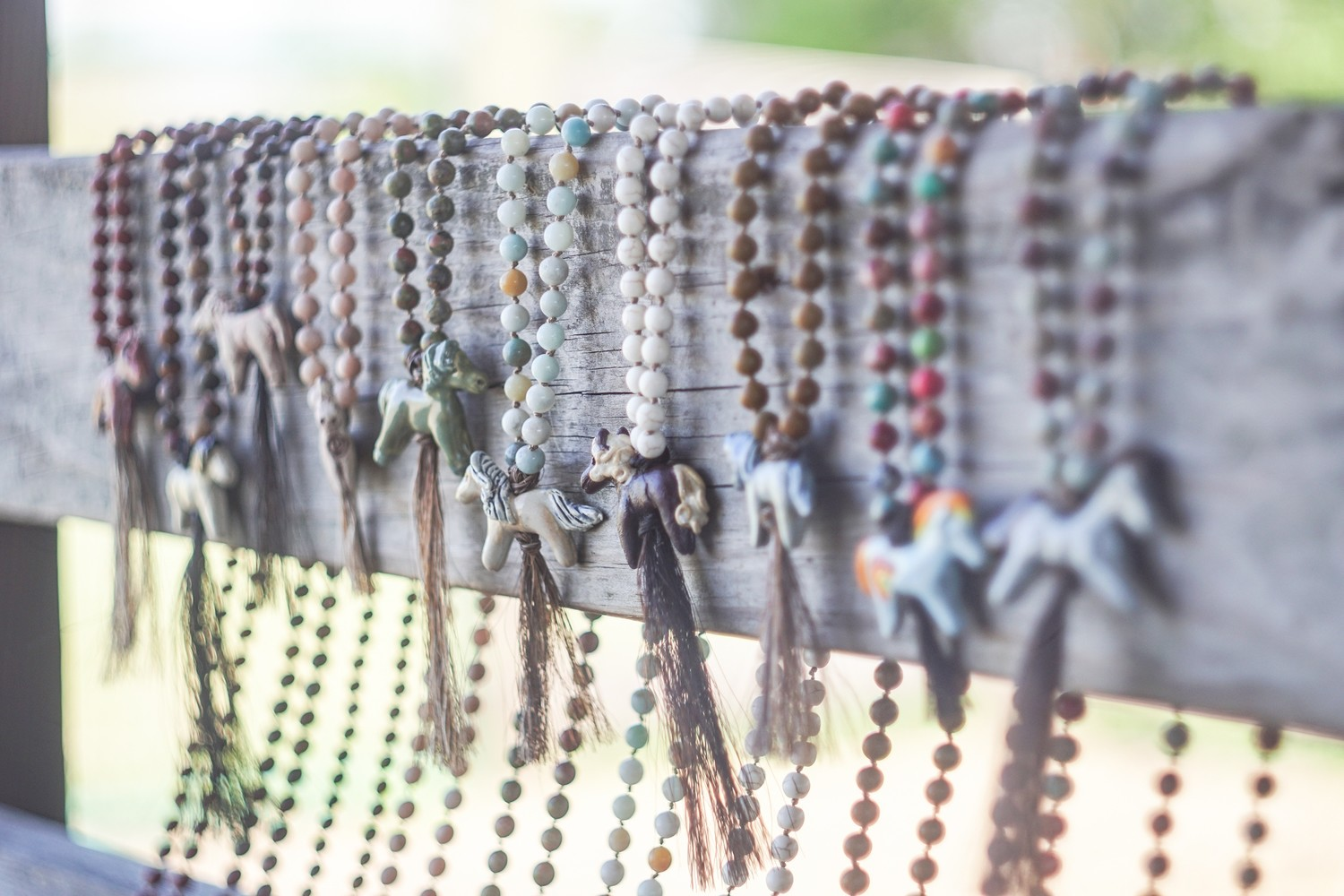 Custom Mustang Mala created for YOU from your Horse's hair! - All Money is Donated to I AM HERD Mustang Sanctuary