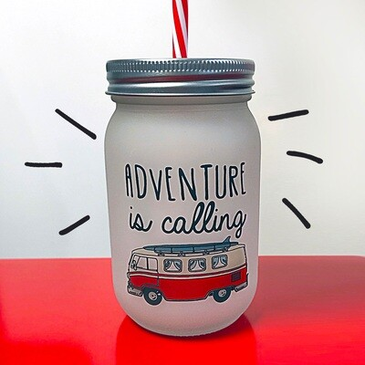 Банка c трубочкой Джар Adventure is calling JA_20L017_KR