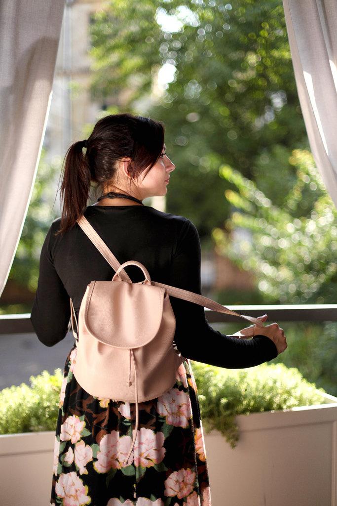 Рюкзак женский кожзам Mod MINI, цвет пудра