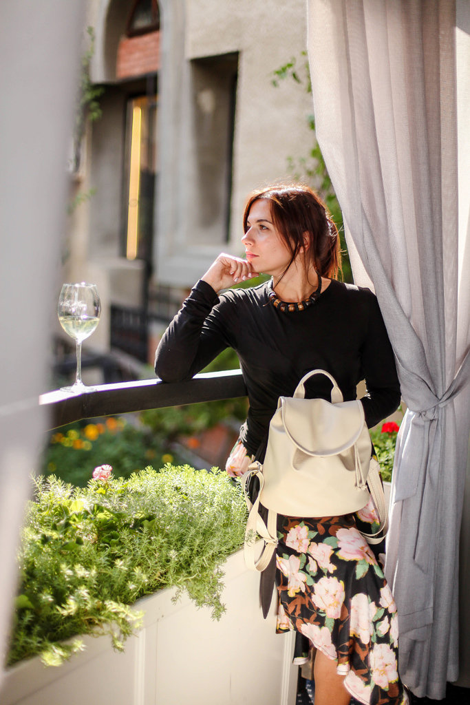 Рюкзак женский кожзам Mod MINI, цвет слоновая кость