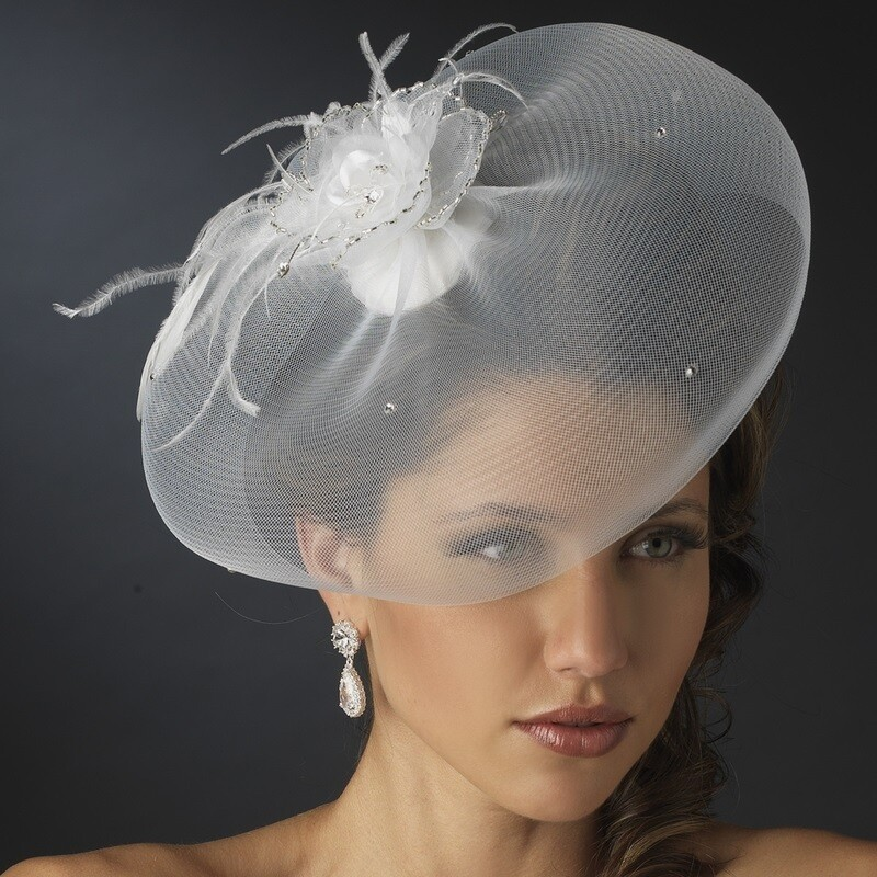 Tulle Visor Hat by WEDDING FACTORY DIRECT
