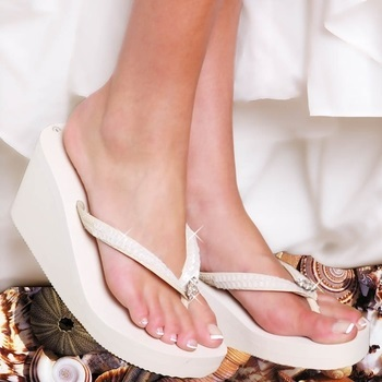 Breeze - Ivory High Wedge