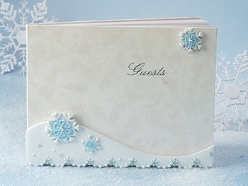Snowflake Charm Wedding  Guest Book