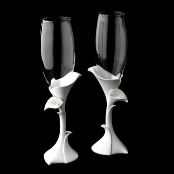 Classic Lily Toasting Champagne Flutes