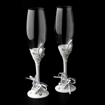 Sparkling Classic Butterfly Toasting Flutes
