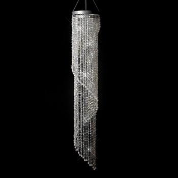 Diamond Cut Crystal Spiral Chandelier