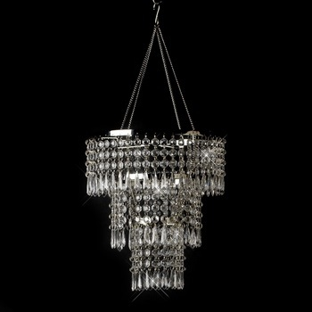 Clear acrylic beaded hanging Chandelier