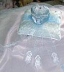 BLUE DIAMOND  BOX RING PILLOW