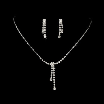 Sparkling Silver &  Crystal Jewelry  Set