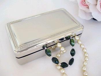 Double Velvet Rectangular Jewelry Box