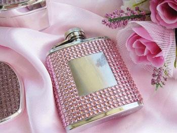 Pink Crystal Flask