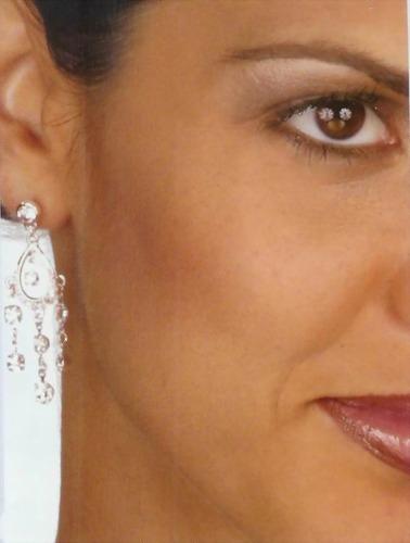 OBLONG RHINESTONES EARRINGS
