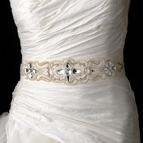 MIX STONES & PEARLS WEDDING BELT
