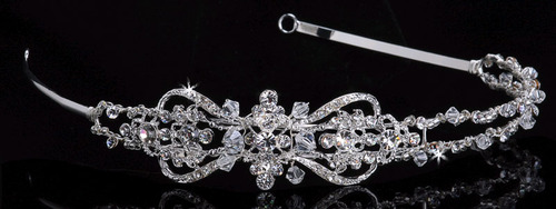 Silver & Clear Swarovski Rhinestones and beads