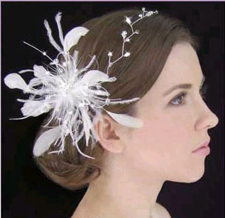 FEATHER HAIR COMB