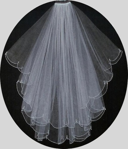 SCALLOPED EDGE VEIL by LC BRIDAL