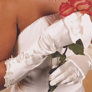 EMBELLISHED FULL FINGER GLOVE BY WEDDING FACTORY DIRECT
