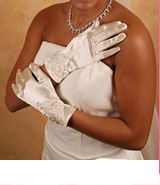 WRIST FULL FINGER GLOVES  BY WEDDING FACTORY DIRECT