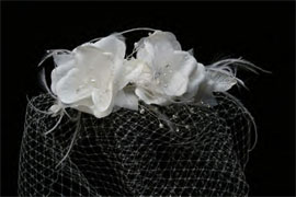 TWO FLOWERS ON CAGE VEIL by ENVOGUE ACCESSORY'S